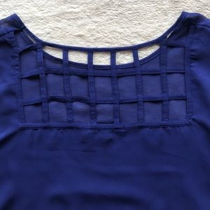 Forever 21 Tops - Forever 21 Sheer Blue Crop Top, Medium